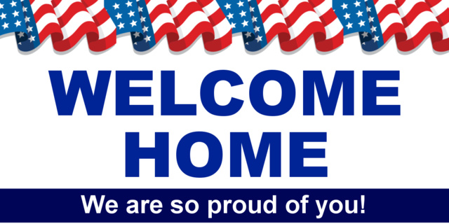Flag Welcome Home Banner