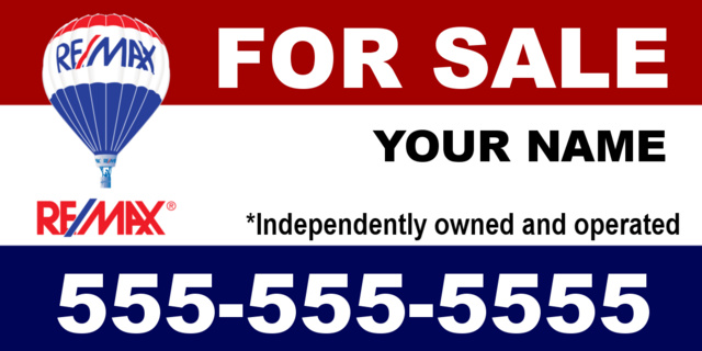 Re/Max For Sale Banner